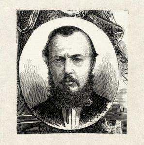 Ф.М. Достоевский. Гравюра на дереве А.Я. Даугеля